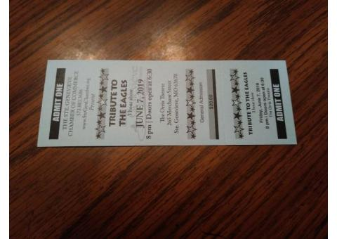 Eagles tribute ticket