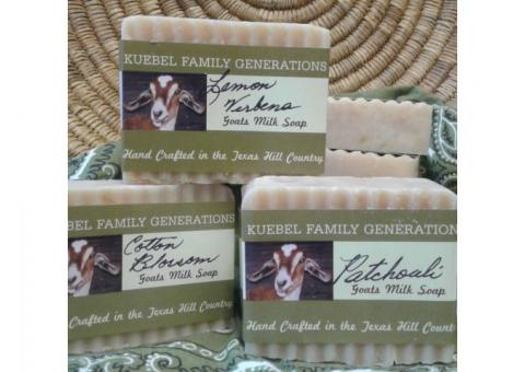 Goat Milk Soaps, Lotions, Etc.. Made in Blanco