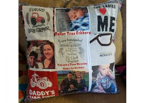 Memory Pillows and blankets
