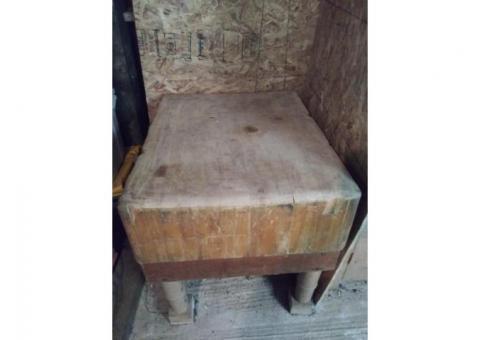 Rare Vintage Maple Butcher Block