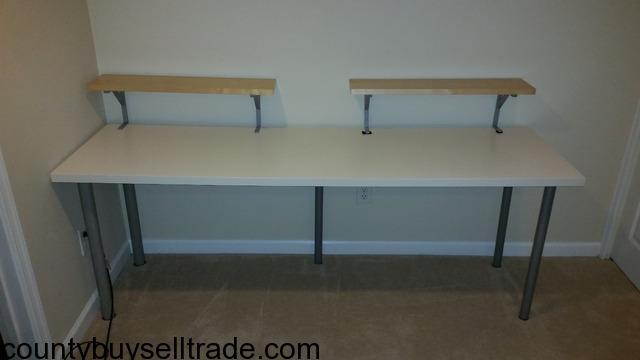 Ikea table desk linnmon adils in springfield fairfax county